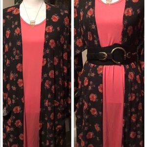 Lularoe XL Sarah sweater/XL Carly dress